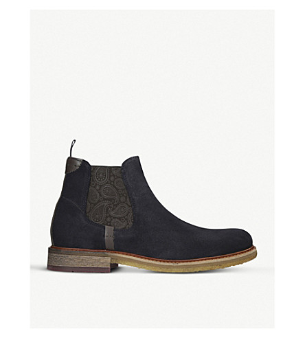 TED BAKER Bronzo suede chelsea boots (Blue/dark