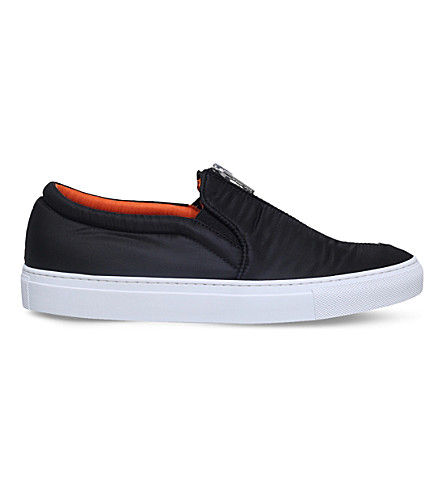 JOSHUA SANDERS Bomber zip textile skate shoes (Black