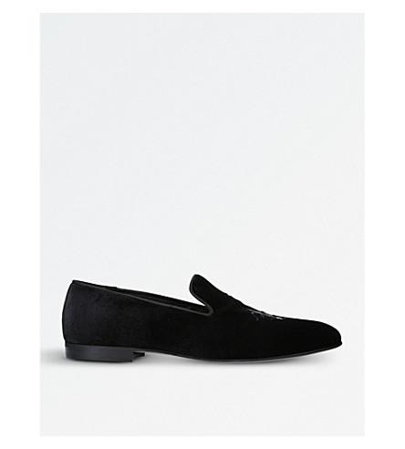 KURT GEIGER LONDON Prince embroidered loafers (Black