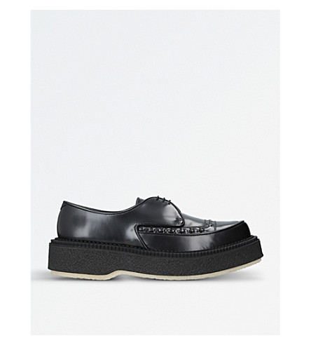 ADIEU Type 101 leather and crepe creeper (Black