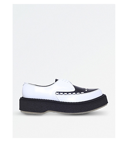 ADIEU Type 101 leather and crepe creeper (Blk/white
