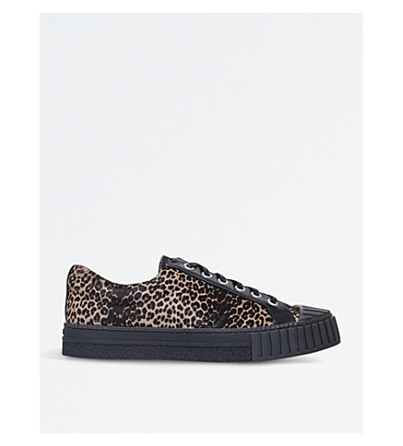 ADIEU W.O. leopard-print leather trainers (Blk/other