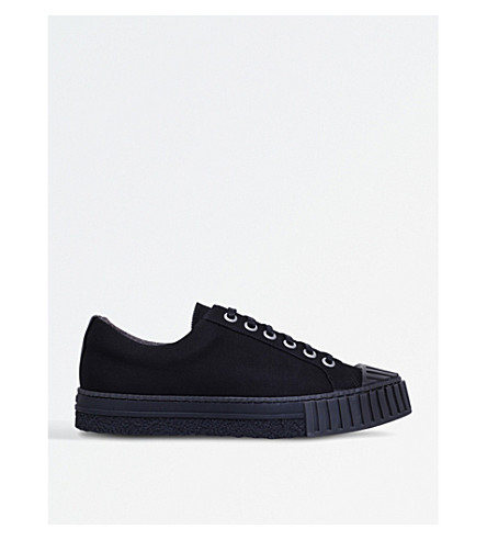 ADIEU W.O. canvas trainers (Black