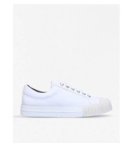 ADIEU W.O. canvas trainers (White