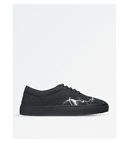 MARCELO BURLON Thunder-print trainers (Black