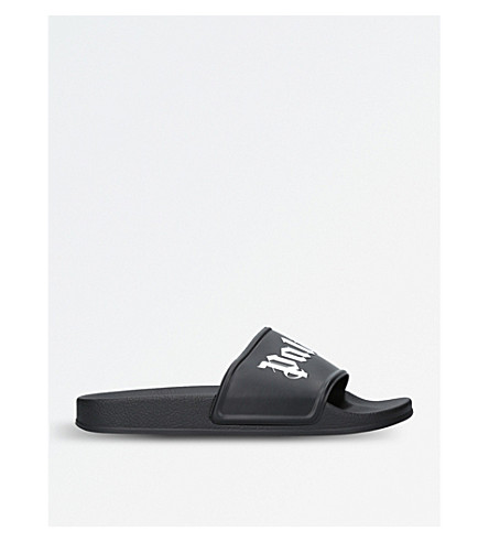 PALM ANGELS Angels sliders (Blk/white
