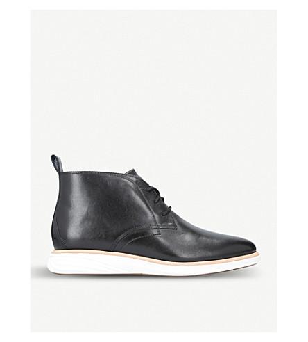 COLE HAAN Grandevo leather chukka boots (Black