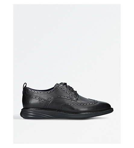 COLE HAAN Grandevo leather derby shoes (Black