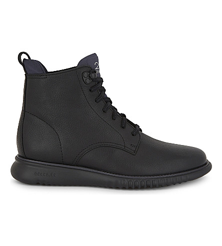 COLE HAAN City leather boots (Black