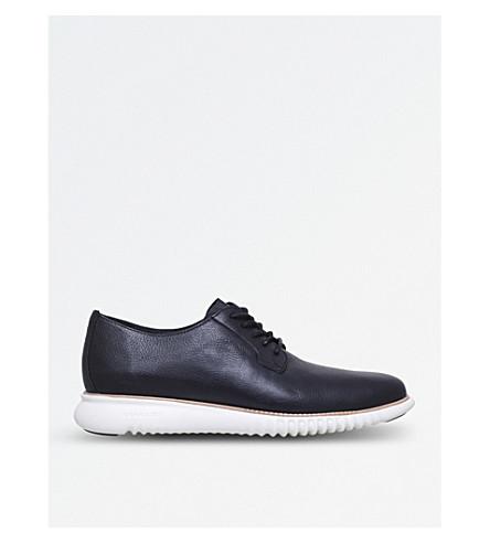 COLE HAAN Decon leather derbys (Black