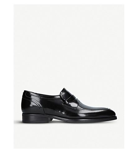 KURT GEIGER LONDON Granger leather loafers (Black