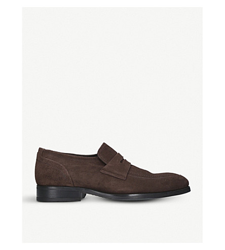 KURT GEIGER LONDON Granger leather loafers (Brown