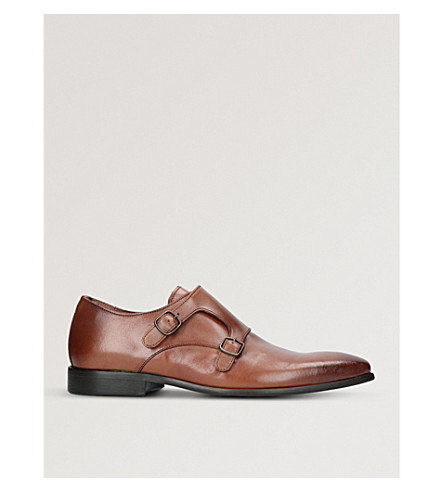KURT GEIGER LONDON Route leather monk shoes (Tan