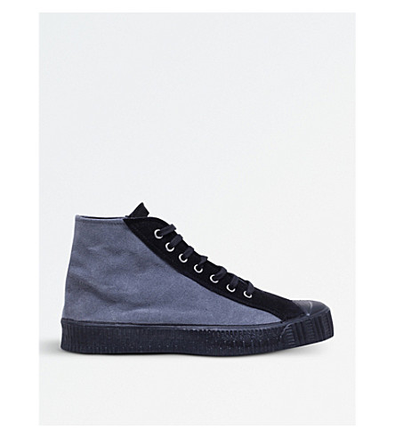 COMME DES GARCONS x Spalwart suede mid-top trainers (Grey