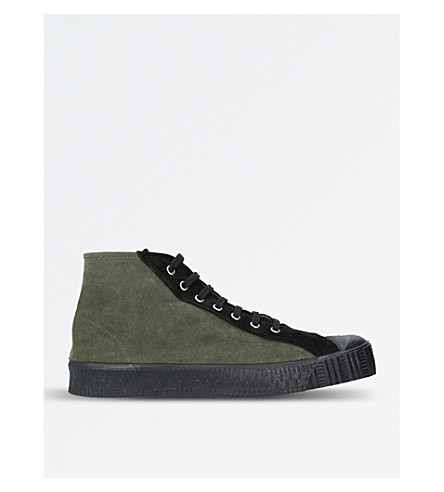 COMME DES GARCONS X Spalwart Special suede mid-top trainers (Khaki