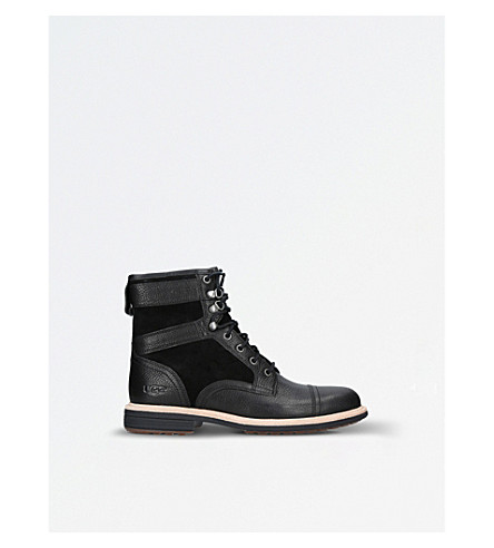 UGG Magnusson leather and suede boots (Black