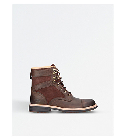 UGG Magnusson leather and suede boots (Brown