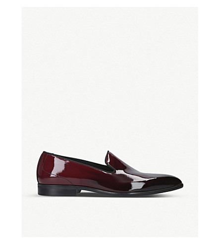 KURT GEIGER LONDON Radleigh leather slip-ons (Blk/red