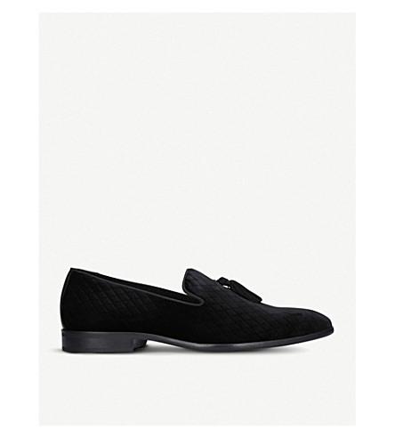 KURT GEIGER LONDON Randolph velvet tassel loafers (Black