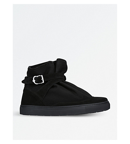 THE HIGHPAD Highpad suede and canvas trainers (Black