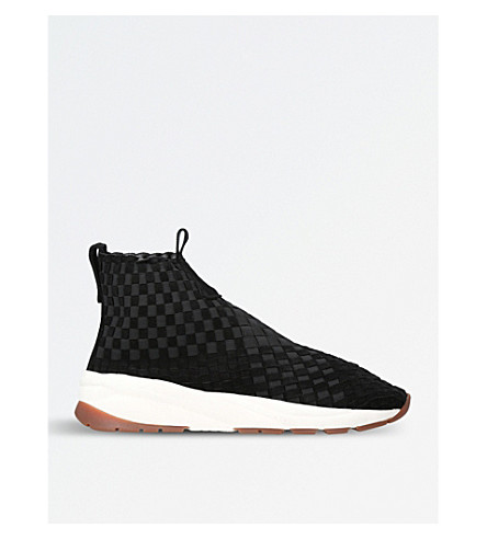 CASBIA Man Rev woven high-top trainers (Black