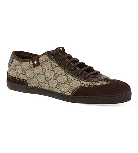 GUCCI Barcelona laced trainers (Dk.brn com