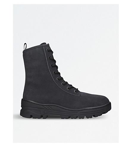 YEEZY Season 5 nubuck-leather military boots (Black