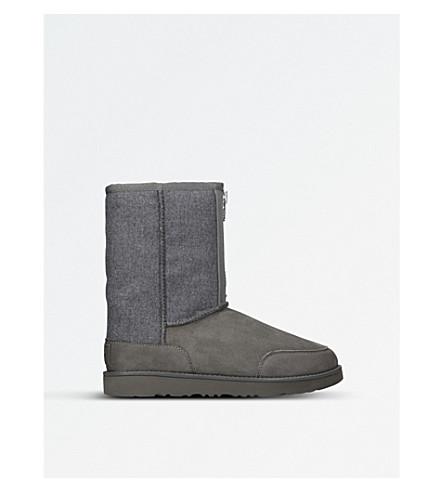 UGG 3.1 Phillip Lim Classic Short Zip sheepskin boots (Grey
