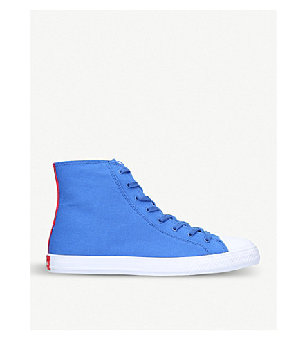 CALVIN KLEIN COLLECTION Constantine 135 canvas high-top trainer (Blue