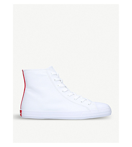 CALVIN KLEIN COLLECTION Constantine 135 canvas high-top trainers (White