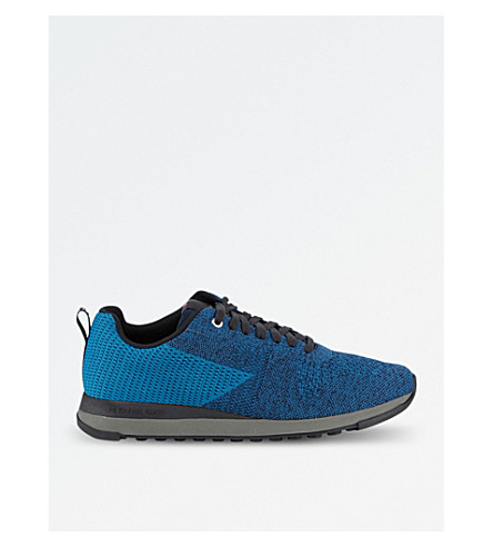 PAUL SMITH Rapid two-tone woven trainers (Blue