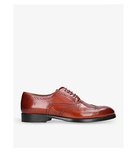 KURT GEIGER LONDON Grafton lace-up leather brogues (Tan