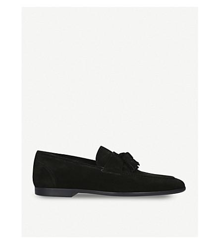 KURT GEIGER LONDON Danza slip-on suede loafers (Black