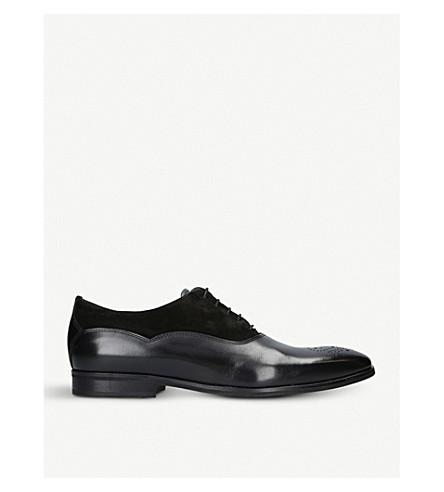 KURT GEIGER LONDON Hopkins leather oxford shoes (Black