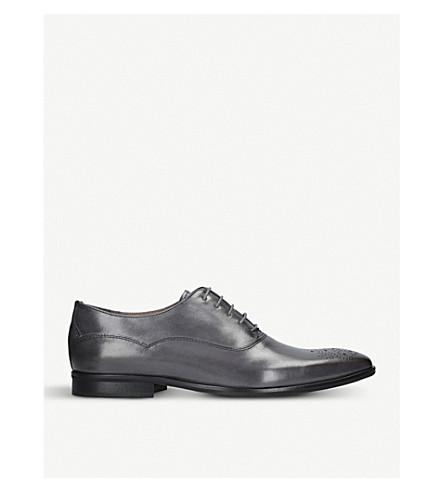 KURT GEIGER LONDON Hopkins leather oxford shoes (Grey