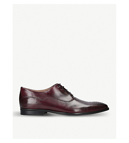 KURT GEIGER LONDON Hopkins leather oxford shoes (Wine