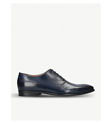 KURT GEIGER LONDON Hopkins leather oxford shoes (Navy