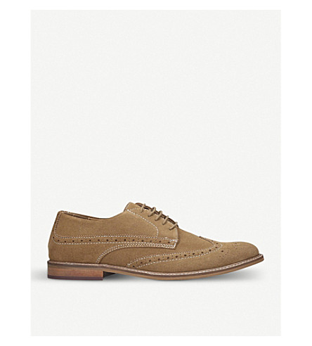 KURT GEIGER LONDON Dennis lace-up suede brogues (Camel