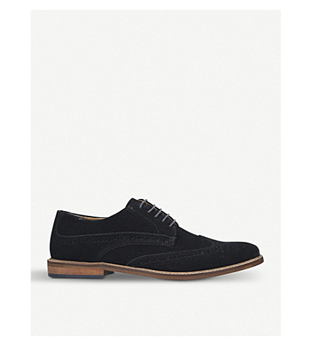 KURT GEIGER LONDON Dennis lace-up suede brogues (Navy
