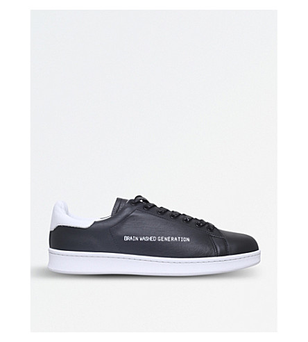 UNDERCOVER Brain Washed Generation leather trainers (Black
