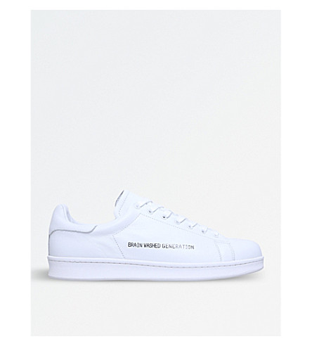 UNDERCOVER Brain Washed Generation leather trainers (White