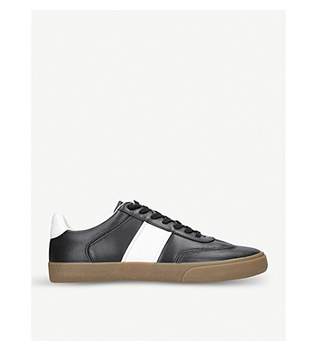 KURT GEIGER LONDON Alverez leather trainers (Black