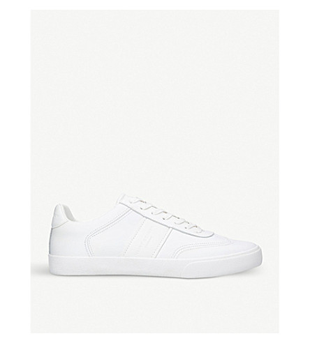 KURT GEIGER LONDON Alverez leather trainers (White