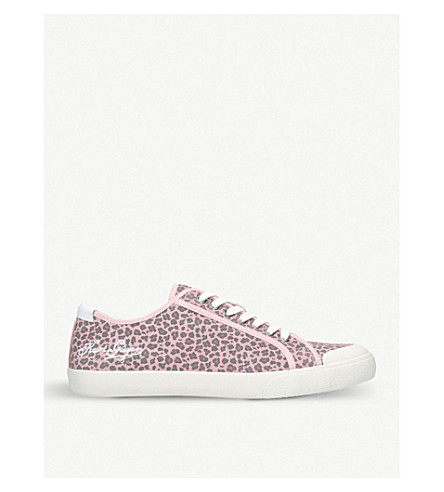 KURT GEIGER LONDON Colt leather low-top trainers (Pink
