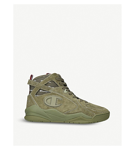 CHAMPION Zone 93 high-top suede trainers (Dark+green