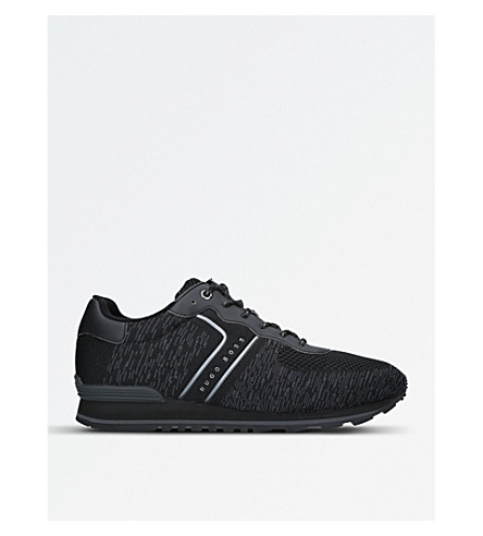 BOSS G Parkour knitted trainers (Blk/grey