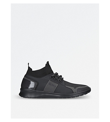 BOSS G Extreme knitted trainers (Black