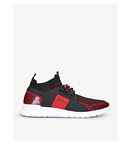 BOSS G Extreme Knit Runner trainers (Red