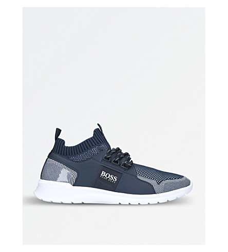 BOSS G Extreme knitted trainers (Navy