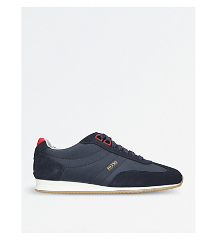 BOSS Orlando Retro suede trainers (Navy